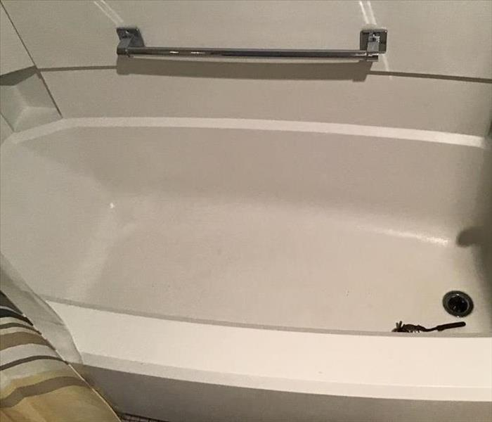 A clean tub after removing sewage.
