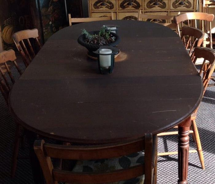 Soot Damage Dining Room Table