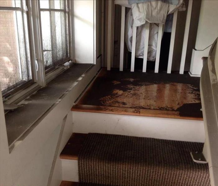 Fire Damage Causing a Thick Layer of Soot on Every Flat Surface