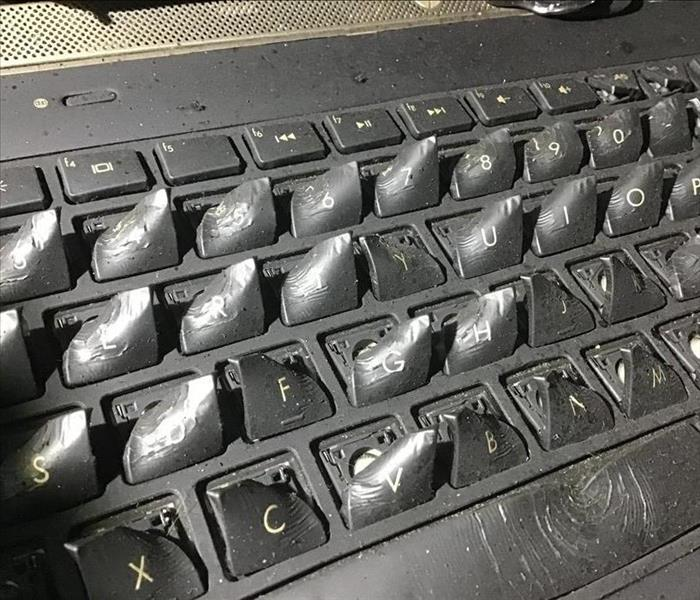 Fire Melted Laptop